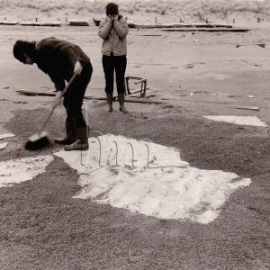 installation on the beach