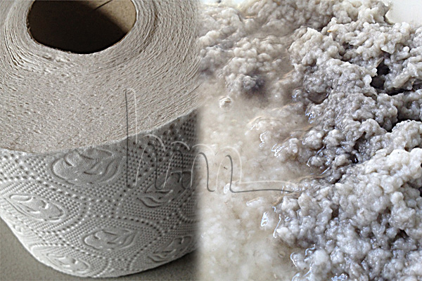 toiletpaper as raw material in ceramics