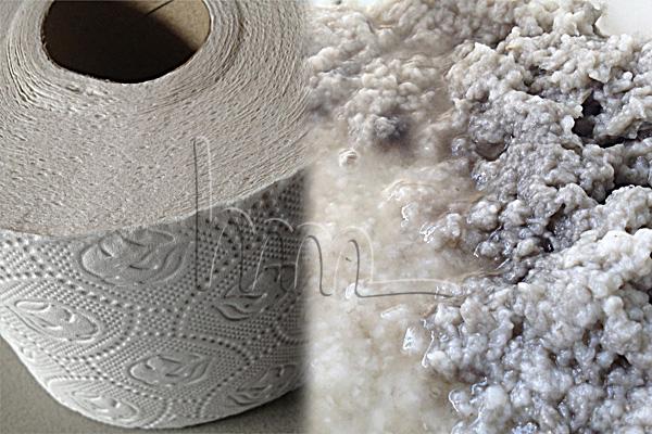 toiletpaper as raw material in ceramics
