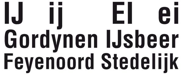 the ligature ij in Dutch