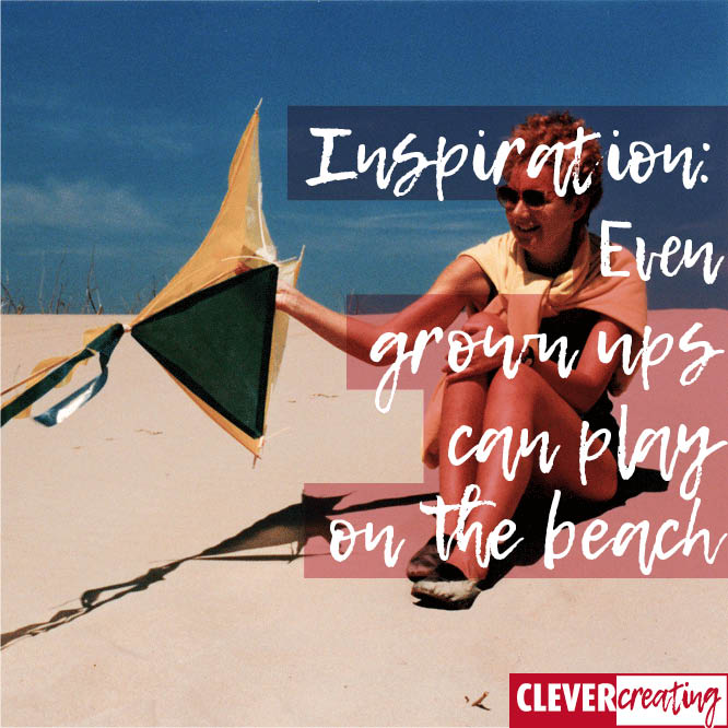 Inspiration: Even grown ups can play on the beach